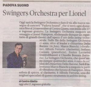 """Articolo da """"il mattino"""" di Padova del 10 novembre 2013"""